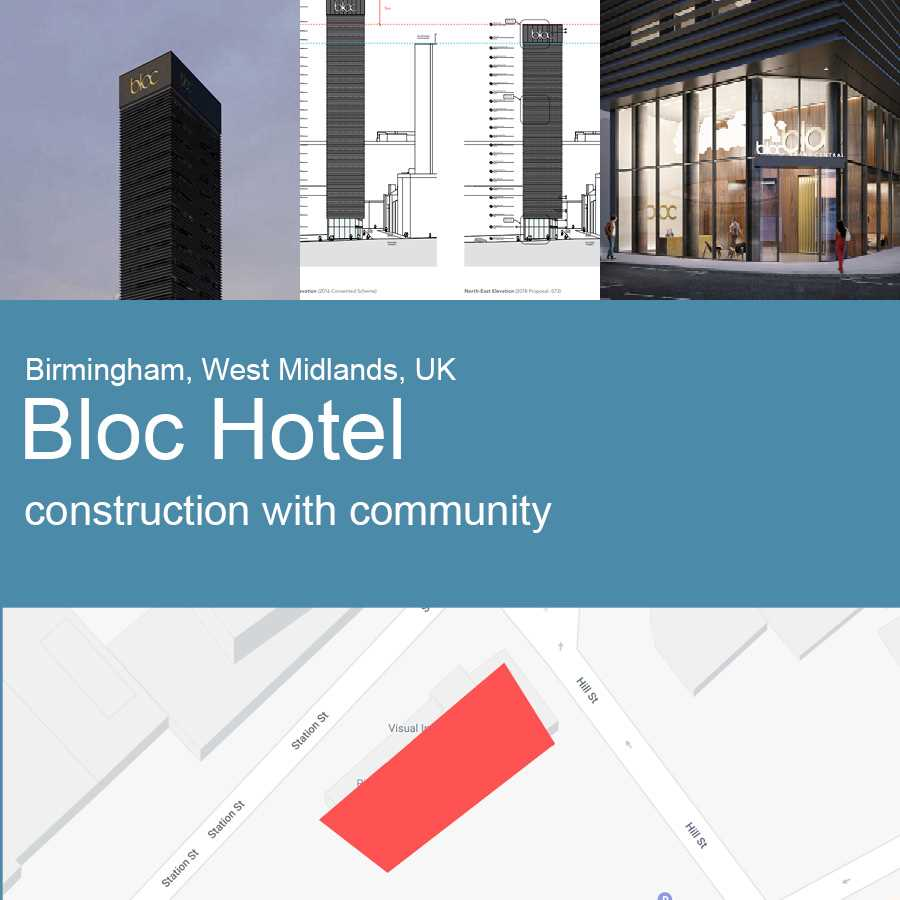 Bloc Hotel, Grand Central in Birmingham - Artist's Impression