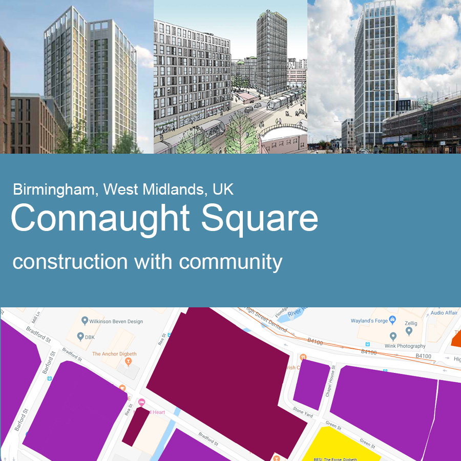 Connaught Square, Birmingham - Artist's Impression